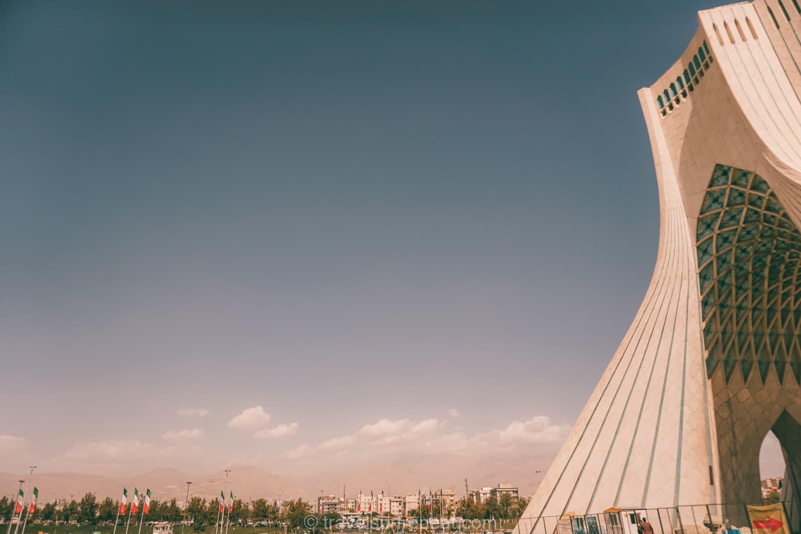 Azadi Tower in Tehran